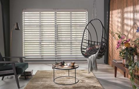 Cortinas Pirouette para living y playroom